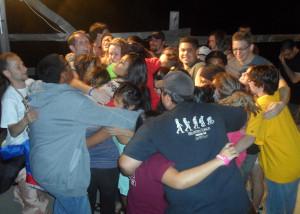 Honors students bond at retreat