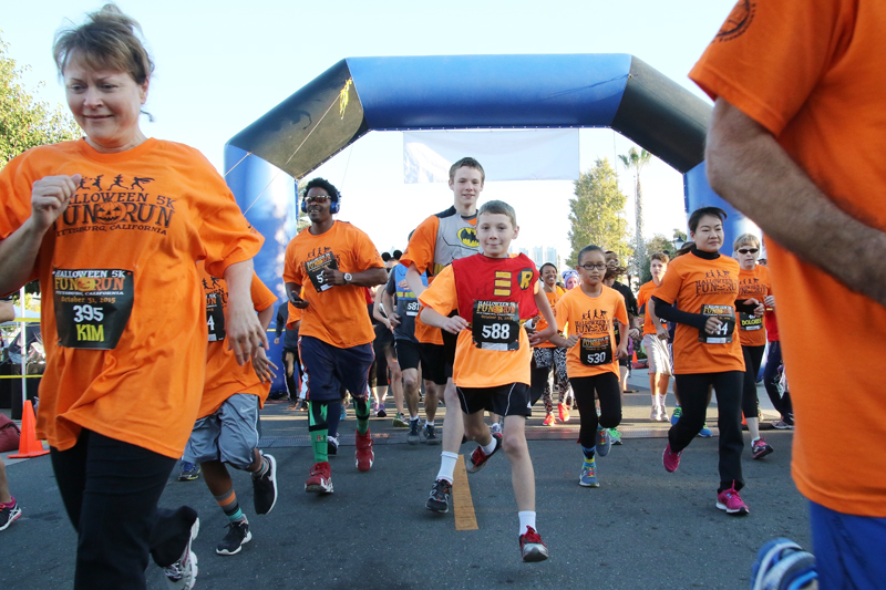 Halloween 5k Run Pittsburg, Ca., Customes galore all ages ran this race which was 6.1 miles long. Ian Weeks came in first place, followed by Jordan Prior.Cathie Lawrence/Experience.