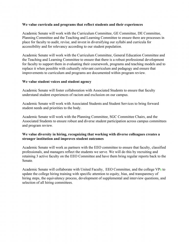 The LMC Academic Senate anti-racism resolution passed October 26, 2020.