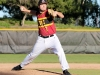 LMC and Modesto Baseball game at LMC. LMC player #17 Llewelyn Slone pitching. January 27, 2017.Cathie Lawrence