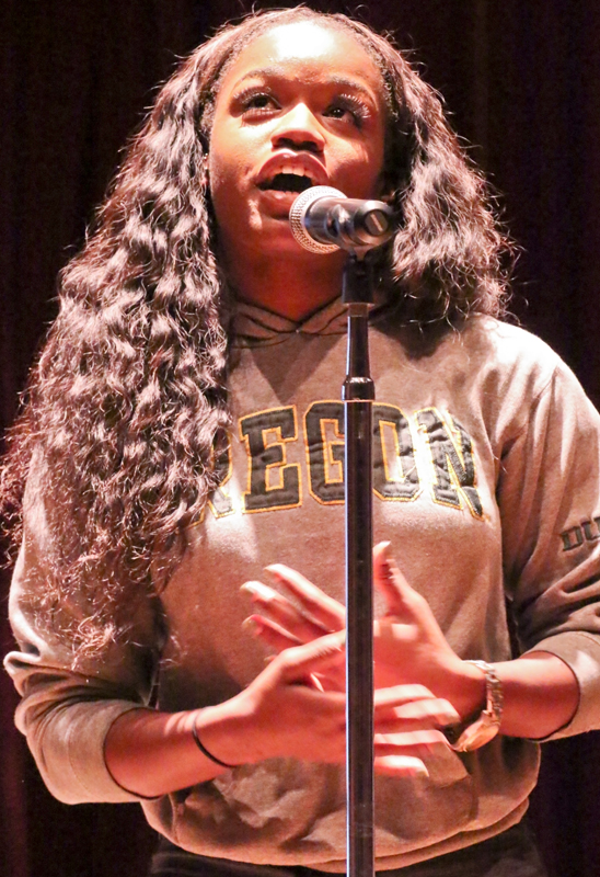 LMC presents the Fiveology group. Poet Brittany Hale. November 19, 2015. Cathie Lawrence/Experience.