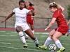 Woman Soccer LMC vs Sacramento City, Pittsburg, CA., LMC Player #9  Brianna Farber, Sac City #11 Michaela Pino, 09-05-14 Experience/Cathie Lawrence