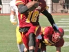 Mens Football LMC vs Hartnell College. Pittsburg, Calif.,Saturday October 18, 2014.  LMC player #10 Julius Mozee and #70 Fernando Nunez. Expereince/Cathie Lawrence.