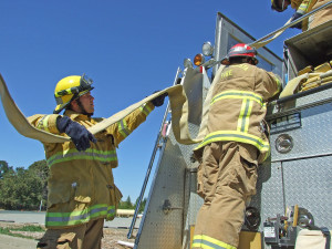 Future fire fighters feel the burn