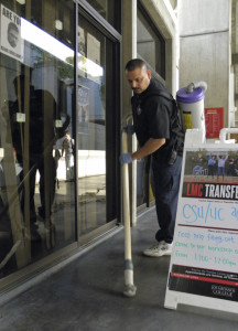 College custodians fight invasion of trash
