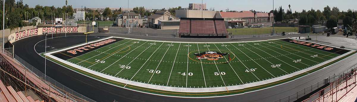 Pittsburg High School football stadium is currently under renovation while the field and track get redone. The Pirates hope to be playing there again Sept. 27.