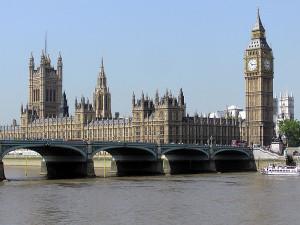 Big Ben watching over Parliament.