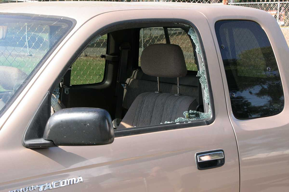 A+gold+Toyota+Tacoma+was+broken+into+in+broad+daylight+last+Tuesday.+Only+a+backpack+was+taken.