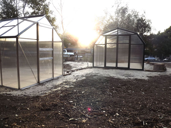 The Nature Preserve's newly installed greenhouses will cater to the growth of California native plants and students of the endangered Bio-7 course.