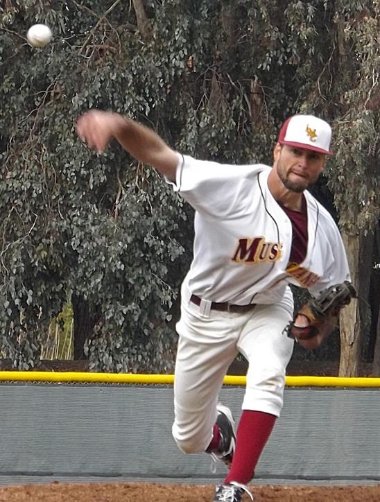 Mustang's starting pitcher Ryan Petrangelo pitched a solid six innings and allowed no runs on only five hits.