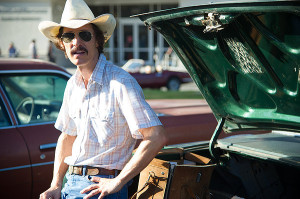 """Dallas Buyers Club"" is a story of a homophobic rodeo cowboy who becomes transformed by his circumstances. Mathew McConaughey plays an AIDS patient, Ron Woodroof, with enough salt to make you forget McConaughey's general appeal.  Woodruff rebels against the experimental treatment prescribed, AZT, and decides to fight the disease his own way, as the drug does more damage than good.  The film picks up  when Woodroof travels to Mexico to purchase alternative medication and smuggles them into Dallas. He turns his smuggling into the Dallas Buyers Club, where members pay a fee for the medication.  His business receives help from transsexual AIDS patient, Rayon, the jarring Jared Leto. Woodruff overcomes his homophobia and shows genuine affection for Rayon, someone he can now relate to, an outcast. — Film reviewed by Alex Tagliamonte"