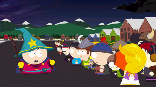Screen shot of the new South Park game, The Stick of Truth.