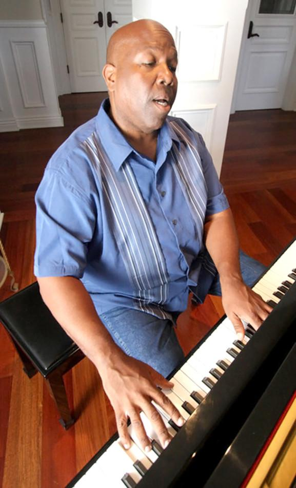 Silvester Henderson, acclaimed music teacher and a gospel singer semifinalist for a Grammy, in his Pleasanton, Calif. home on Tuesday, June 18, 2013.