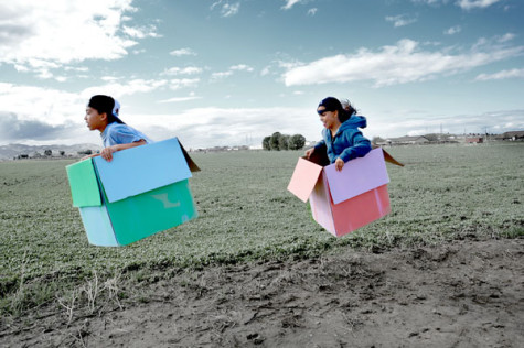 """Flying Boxes"" by Zinah Abraha. Inkjet photograph."