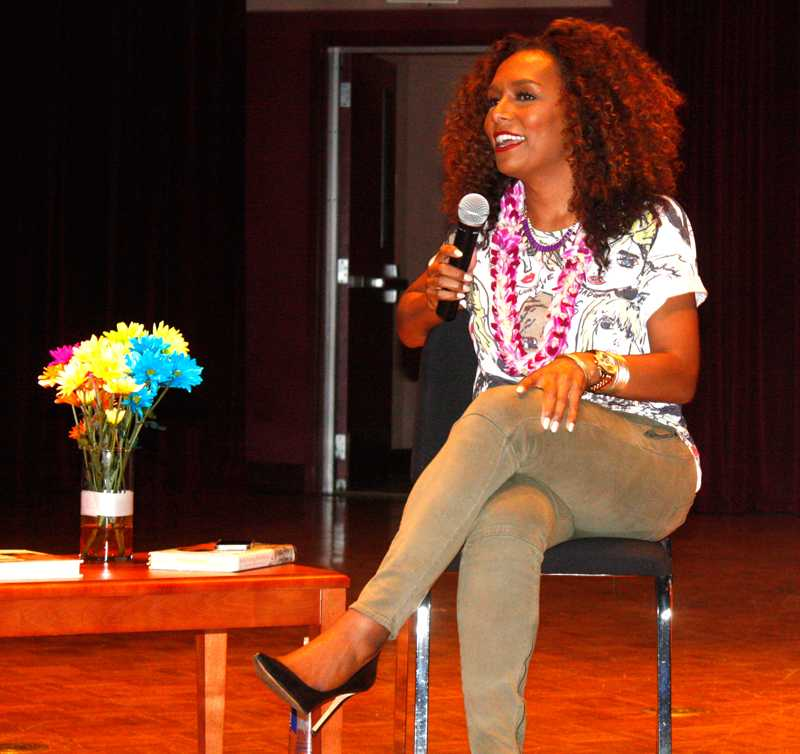 Novelist Janet Mock speaks during the Elevating Diversity conference Sept. 13 in the Recital Hall.
