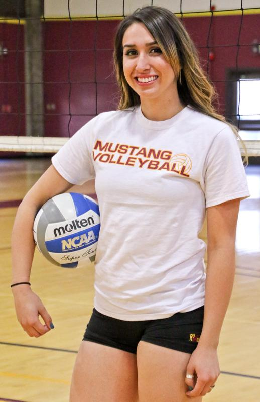 Mustangs outside hitter Anna Vega is second-team all-conference.