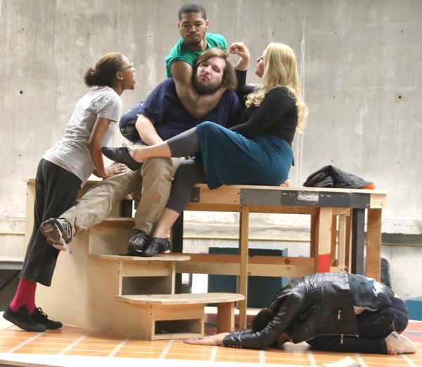 From left: Jonee Washington as Mustardseed, Alex Desjardin as Nick Bottom, Jarrelle Tramble as Snout, Tiffanie Moore as Titania and Katie Garcia as Peaseblossom.