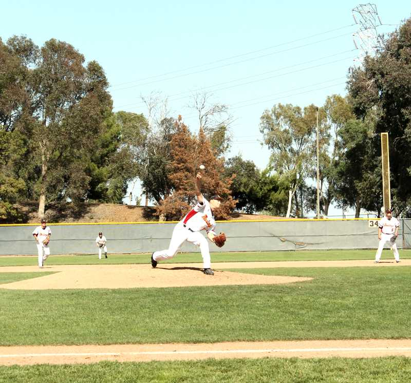 Mike+Alexander+pitched+seven+innings+in+a+win+over+Yuba+College+and+finished+with+six+strikeouts.