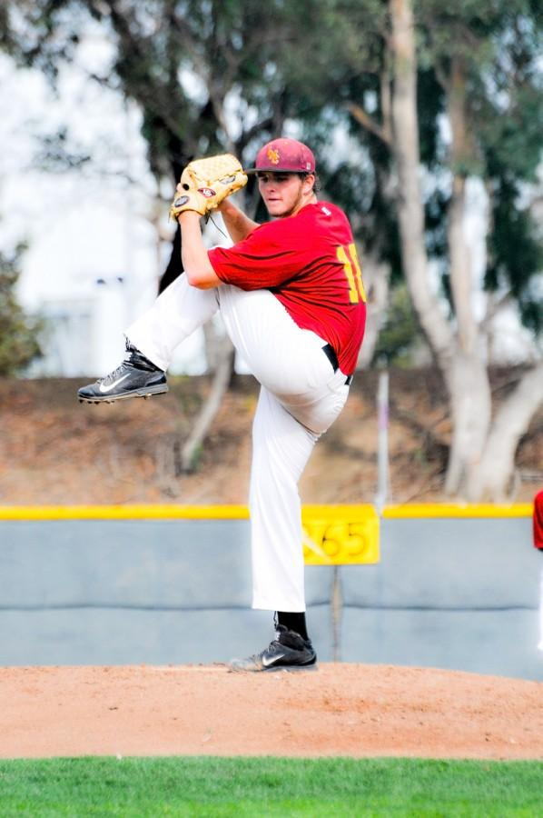 Pitcher Spencer Vincent tries to cement his role on the team during the fall games.