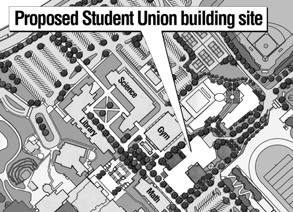 With a proposed location decided upon, design plans for the new Student Union Building has begun.