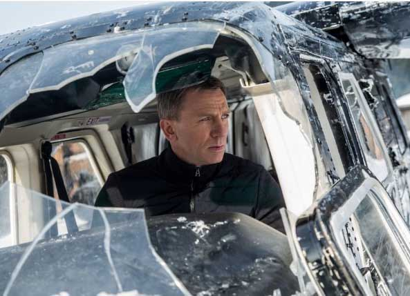 "Daniel Craig plays James Bond in the new Ian Fleming adaptation, ""Spectre."""