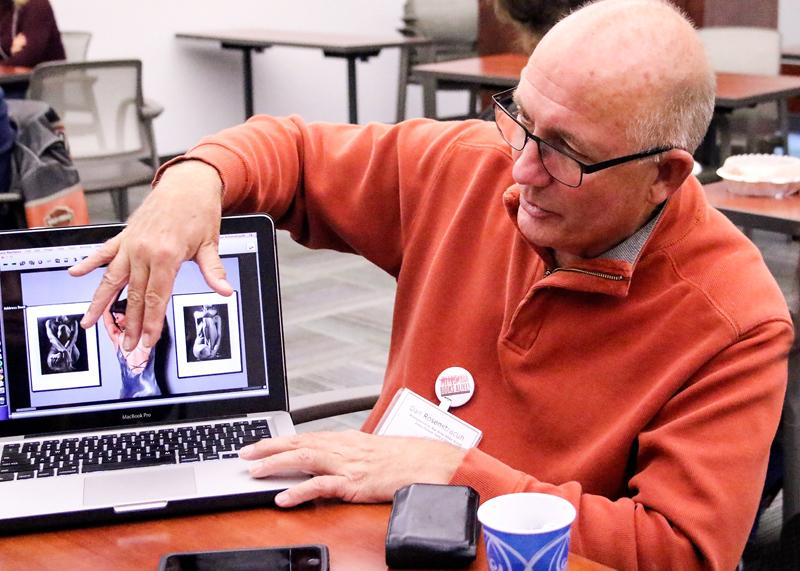 Books Alive, November 11, 2015 room L109, LMC, Pittsburg, Ca., Photographer Dan Rosenstrauch of Bay Area Group, Contra Costa TImes Newspaper. Cathie Lawrence/Experience.