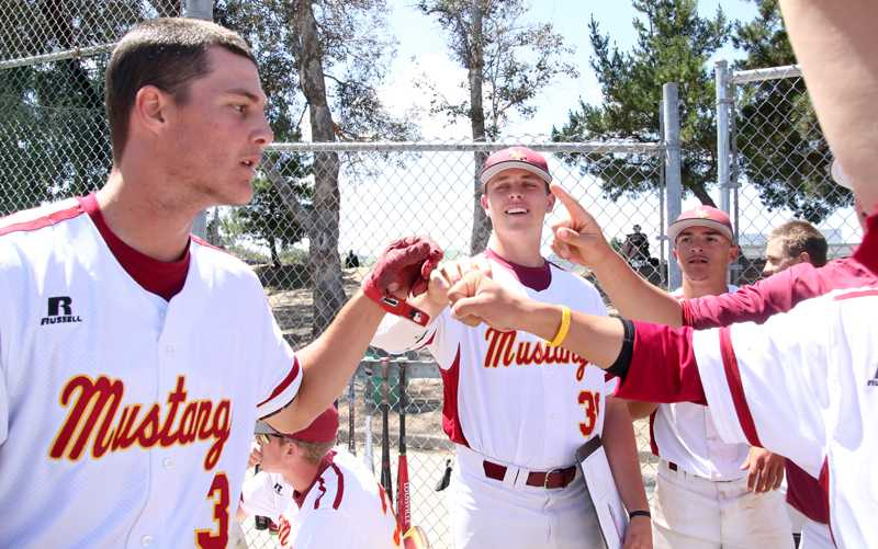 Mens Baseball LMC vs. Solano Community College. LMC player #3 Jonathan Allen just made a home run and is greeted by team members to give him a high five to congratulated him.Apr. 23, 2016. LMC, Pittsburg, Calif. .