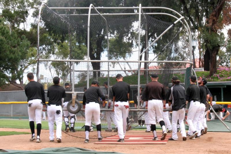 LMC+baseball+team+moves+the+batting+cage+called+a+%22Bubble%22+back+to+the+side+lines+before+a+game.+Apr.+11%2C+2016.+in+Pittsburg%2C+Calif.