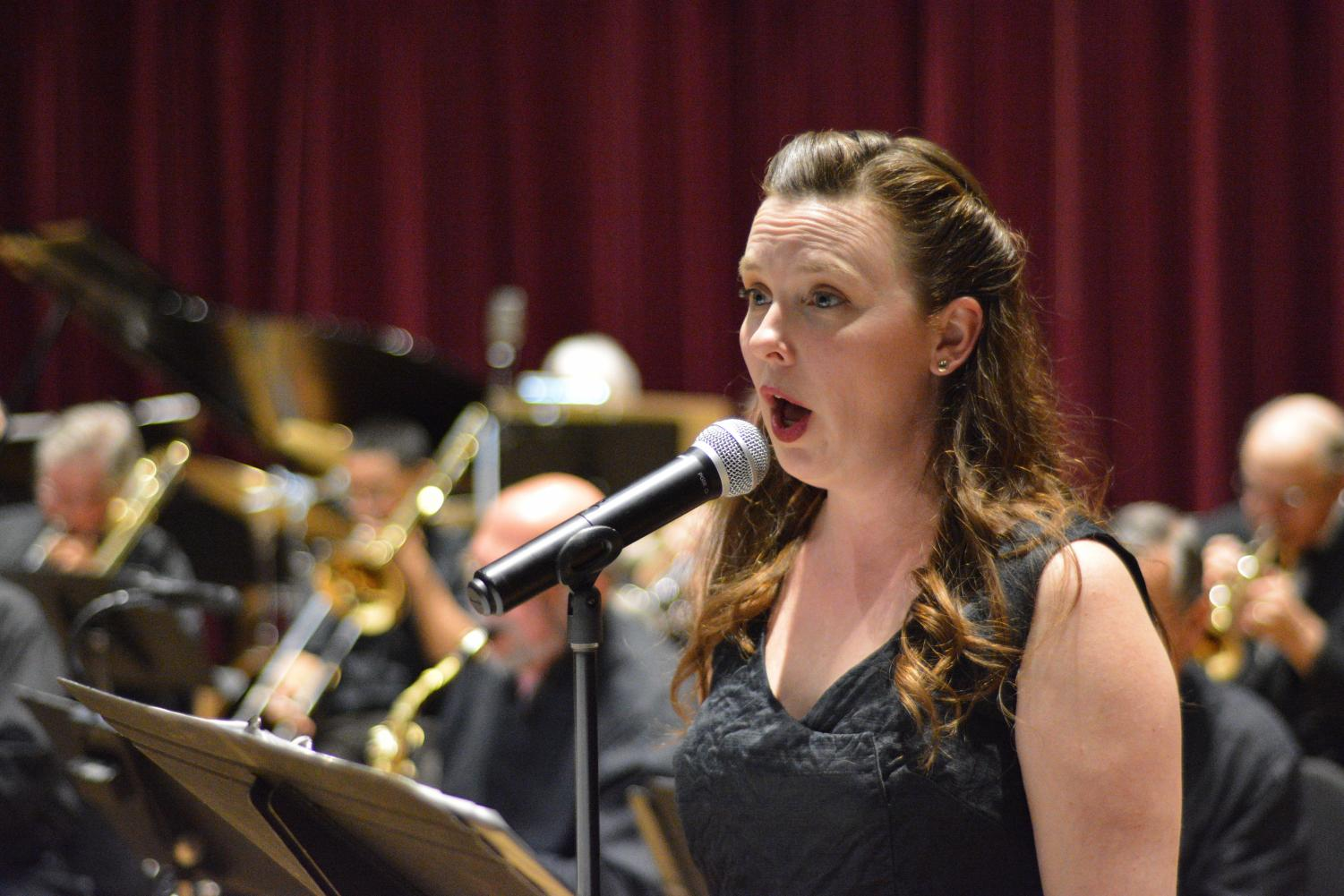 Heather Tinling singing with The Golden Gate Radio Orchestra