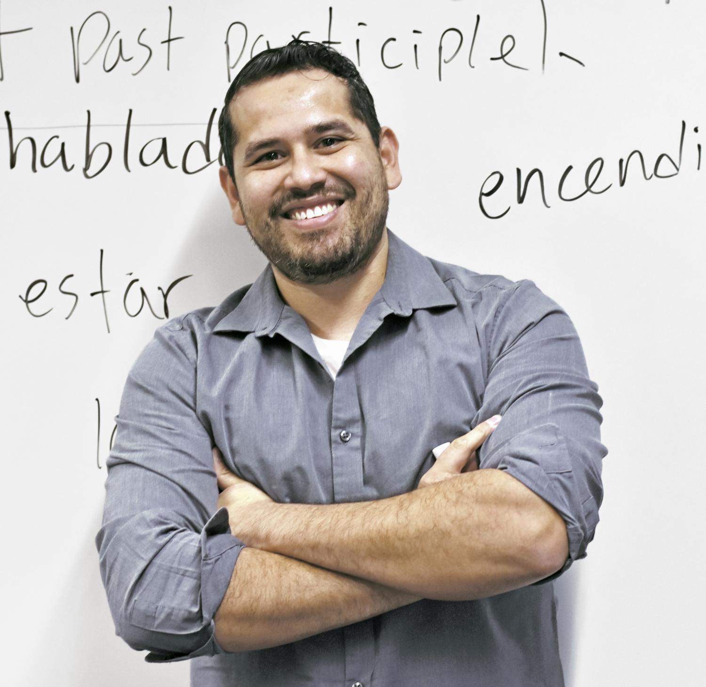 Victor Coronado poses in front of