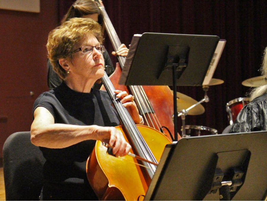 Susan Magrini focuses during a difficult number.