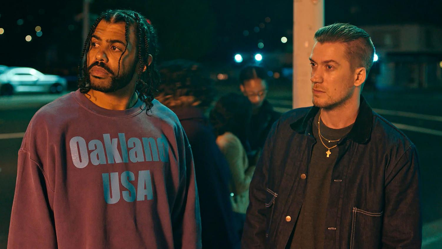 "Daveed Diggs (left) and Rafael Casal (right) in ""Blindspotting."""