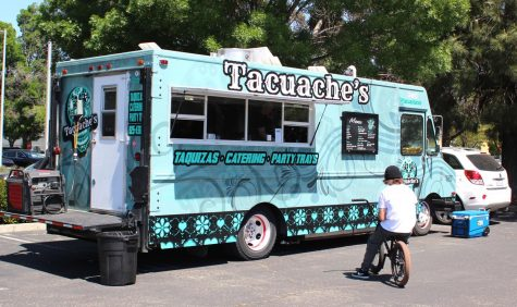 The Tacuache's taco trunk located in the Somersville Shopping Center's parking lot.
