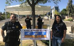 Officer Barbosa showing support alongside Esperanza Rojas for Active Shooter Awareness Week Sept. 11 at Los Medanos College.