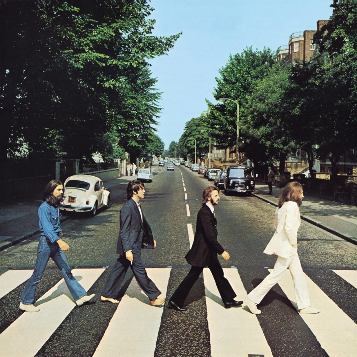 "Official album art for ""Abbey Road,"" released 1969."