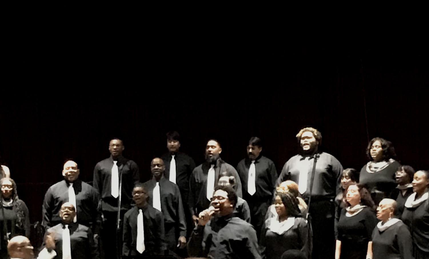 LMC College Chorus performs for audience Oct. 29.