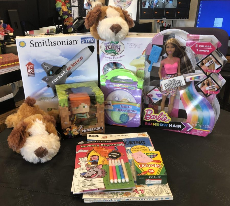 Donated toys at the Brentwood Campus.