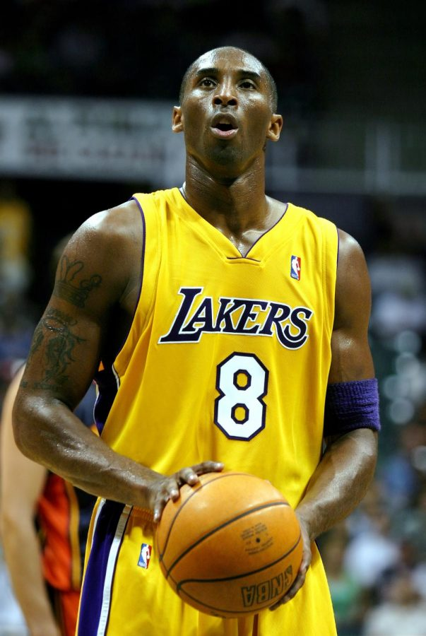 Kobe Bryant, Lakers shooting guard, stands ready to shoot a free throw during Tuesday night's pre-season game against the Golden State Warriors. Bryant was essential in bringing together a large point gap late in the second quarter, after the Warriors took the early lead.
