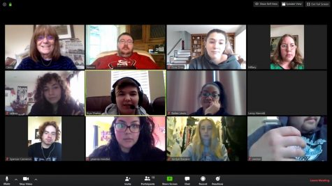 The Los Medanos College Experience news staff on Zoom call.