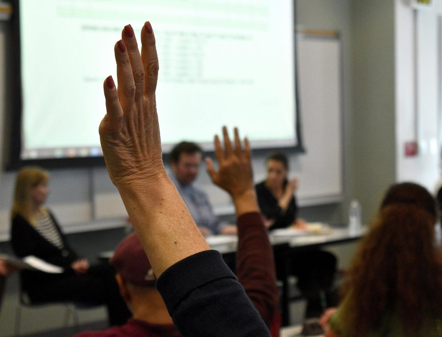 Many questions were asked during the emergency Academic Senate meeting held March 11.