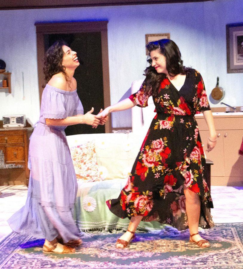 Sisters Maria Celia Obispo (Hernandez) and Sofia Obispo (Moreno) dance.