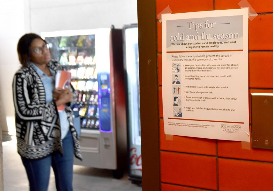 New signs are posted around campus encouraging ways for staff and students to stay healthy.