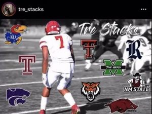 Tre'vante Daniels posted this photo on his Instagram account to show what schools he said he had received offers from.