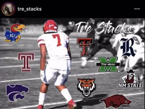 Trevante Daniels posted this photo on his Instagram account to show what schools he said he had received offers from.