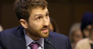 Former Google design ethicist Tristan Harris testifies before the U.S. Senate in
