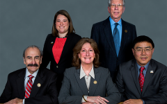 The members of the CCCCD Governing Board