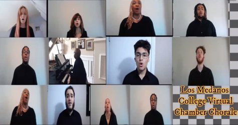 The LMC Virtual Chorale Chamber performing during virtual concert Dec. 7.