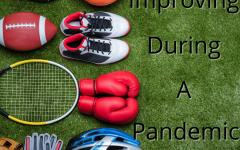 Student athletes training despite pandemic