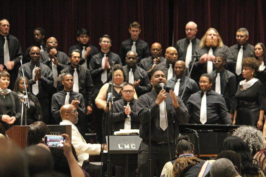 The LMC Gospel Choir during the 25th Anniversary Gospel Celebration Concert held in 2019.