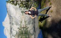Jennifer Saito strikes a pose in Yosemite National Park.